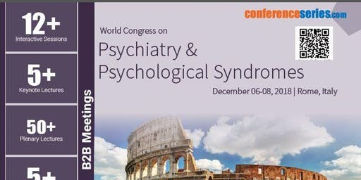 World Congress on  Psychiatry & Psychological Syndromes None