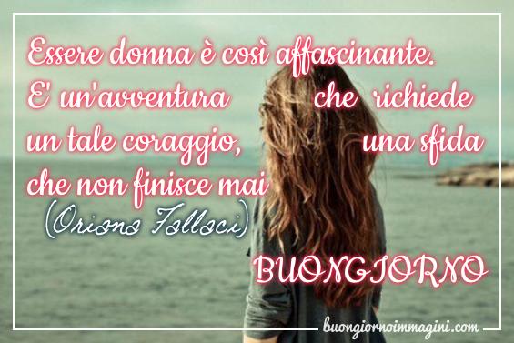 Donna Di Spalle Frase Oriana Fallaci